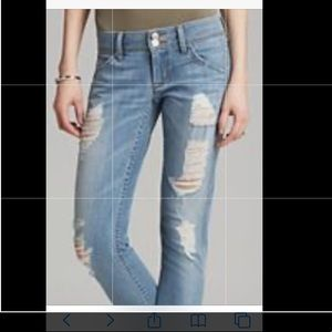 HUDSON destroyed crop cuff jeans